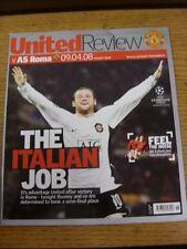09/04/2008 Manchester United v Roma [Champions League] (Light Fold To Corner). G