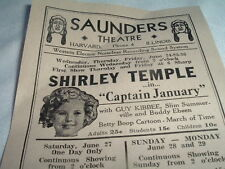 Original 1940 SHIRLEY TEMPLE MAE WEST WILL ROGERS MOVIE ADVERTISING FLYER