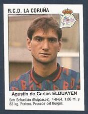 PANINI FUTBOL 93-94 SPANISH -#381-R.C.D.LA CORUNA-AGUSTIN DE CARLOS ELDUAYEN