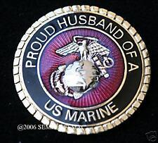 PROUD HUSBAND OF US MARINE WIFE MOM WM HAT PIN UP MARINES WM DAD IRAQ VIETNAM