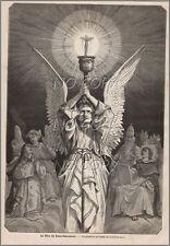 1879 : ILLUSTRATION / GRAVURE : RELIGION le SAINT SACREMENT par Yan' DARGENT