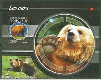 TOGO 2015 BEAR SOUVENIR SHEET  MINT NEVER HINGED
