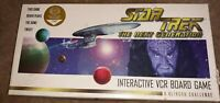 Star Trek The Next Generation A Klingon Challenge Interactive VCR VHS Board Game