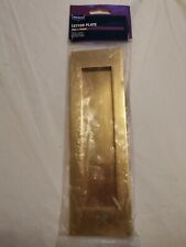 "WICKES  LETTER PLATE WITH BRASS FINISH, WITH  254 X 76mm, 10"" x 3"""