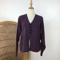 Officer Smith Melbourne Wool Knit Cardigan Size S 10/12 Pin Up Retro Purple