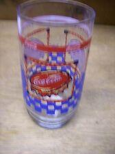 Coca-Cola Glass Bottle Caps and Blue Checkerboard Design