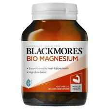 Blackmores Bio Magnesium Muscular Support Relieves Muscle Cramps 100 Tablets 1d