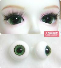 14mm  For BJD DOD AOD MK OK RD Doll Dollfie Glass Eyes Outfit Green 18