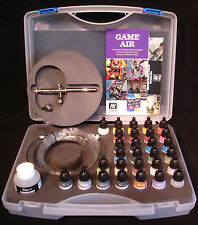 Vallejo Game Air 72871 28 x Basic Colour Set + Ultra Airbrush + Air Hose + Case