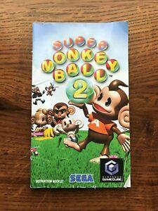Super Monkey Ball 2 Nintendo Gamecube Instruction Manual Only