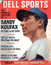 1966 (May) Dell Baseball magazine, Sandy Koufax, Los Angeles Dodgers ~ Fair