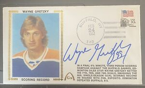 """1982 Gateway First Day CoverWayne Gretzky """"Scoring Record"""" Autographed 100% HOF"""