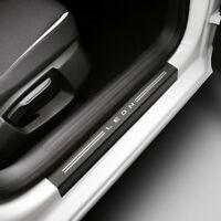 Seat Leon 5F Einstiegsfolien 4-teilig schwarz/silber für Einstiegsleisten