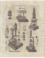 1798 MICROSCOPE compound CULPEPER Cuff anatomical dissecting INSTRUMENTS print