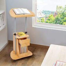 Livebest Computer Desk Rolling Laptop Table Writing Cart Office Lift Workstation