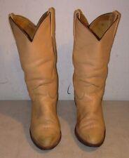 Vintage Men's Frye 2308 Cowboy Western Boots Size 8 1/2 D USA Leather Tan