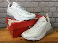 NIKE AIR MAX LADIES UK 6.5 EU 40.5 270 TRIPLE WHITE TRAINERS RRP £120  EP