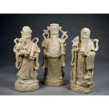 Fu Lu und Shou Sanxing Feng Shui Porzellan Figuren Set aus China Blanc de Chine