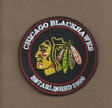 NEW 3 INCH CHICAGO BLACKHAWKS ESTABLISHED 1926 IRON ON PATCH FREE SHIPPING