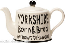 NEW Moorland Pottery Yorkshire Born & Bred Teapot Tea pot - Gift Boxed
