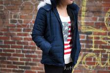 NWT Abercrombie Kids Women's Sherpa Lined Puffer Jacket Outerwear Sz 11/12 (XS)