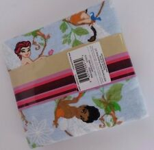 Disney Stash Sampler Tinkerbell Fairies Half Yard Material Fabric Flannel 18X42