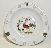 Vintage Porcelain Japan Ashtray with Rooster