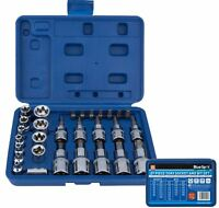 "BlueSpot 29pc Torx Socket Bit Set  Male & Female Sockets 1/4"" 3/8"" 1/2"" Drive"