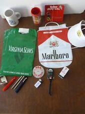Advertisting items - Philip Morris Marlboro, Merit, Virginia slims 1980's 1990's
