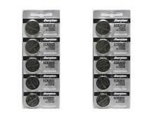 10 Energizer CR2032 ECR2032 2032 3V Lithium Button Battery
