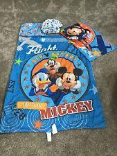 Disney Captain Mickey Mouse Blue Toddler Bed Crib - Bedding Set