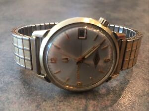 VINTAGE 1972 ACCUTRON 218.1 TUNED FORK (NEW BATTERY!) w/DATE!  14K GOLD FILLED!