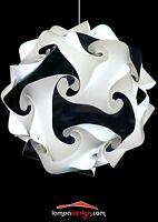 LAMPADARIO sfera bianco e nero 35cm Sospensione salotto cucina camera da letto