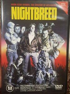 NIGHTBREED RARE DVD CLIVE BARKER CULT HORROR FILM CABAL DAVID CRONENBERG MOVIE