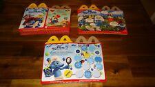 Smurfs Lot of 12 McDonald's Happy Meal Boxes Smurf Smurfette Party Set Favors