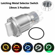 19mm (3)Position Waterproof Stainless On/Off/On Latching Metal Selector Switch