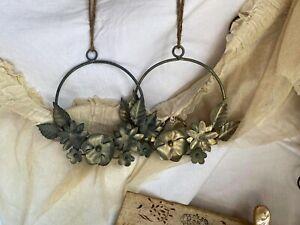 Vintage Style Wreath. Vintage Wedding Decor, Metal Hanging Tiara. Summer Party