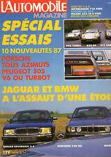 REVUE L'AUTOMOBILE MAGAZINE 486 JAGUAR BMW 735 MERCEDES 420 PORSCHE PEUGEOT 505