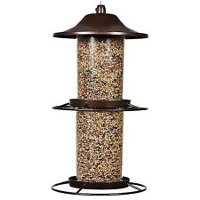 Perky-Pet 325S 2-Tier Panorama Bird Feeder, Rustic Brown, 17""
