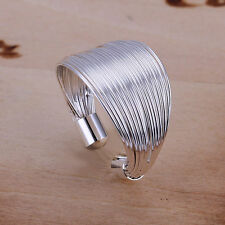 Fashion Womens  Solid 925Sterling Silver Line Ring Jewelry R01 XMAS GIFT N-O