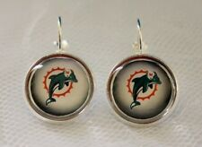 Miami Dolphins Earrings made from Football Trading Cards Great for Game Day
