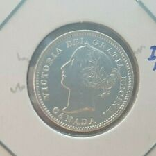Canada coin, 10 Cents, 1858, Repunched 5/5, I/I, Bright and Beautiful.