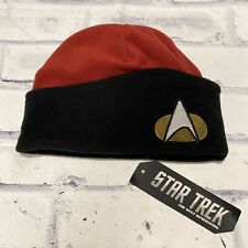 Star Trek The Next Generation Red Command Division Winter Hat New Black