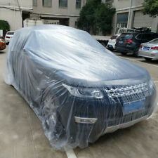Clear Plastic Disposable Car Cover Temporary Universal Garage Rain Dust 1 Pack