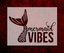 """Mermaid Vibes Tail Scales 8.5"""" x 11"""" Stencil FAST FREE SHIPPING (634)"""