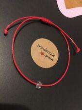Bracelet Crystal Swarovski  With Red Thread Protection Evil Eye Handmade
