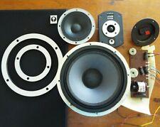 More details for wharfedale laser 80 speaker parts - woofer / mid range / crossover / grill etc