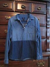 Girls Gap Kids Blue Denim Long sleeve Shirt XXL