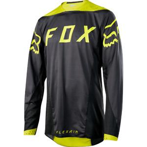 Fox Racing Flexair Long Sleeve L/S Jersey Moth Black/Yellow
