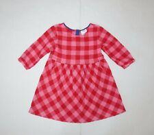 Hanna Andersson Girls Plaid Flannel 3/4 Sleeve Dress sz 110